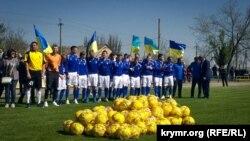 Футбольный клуб «Таврия» открывает новый сезон в Бериславе Херсонской области, апрель 2018 года