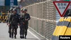 Кэсонго кеткен жол быйыл жазында Түндүк Кореянын ракета сыноолорунан кийинки нааразылыктардан улам жабылып калган