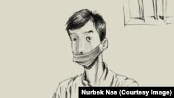 Карикатура художника Нурбека Насыранбекова.