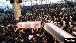 Soleimani's funeral in Tehran, December 6, 2020.