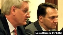 Carl Bildt și Radek Sikorski la Chișinău