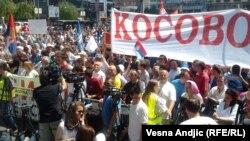 Protest u Beogradu: Pozivi na oslobođanje Kosova