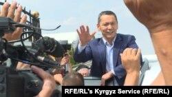 Омурбек Бабанов после возвращения в Кыргызстан из России. Август 2019 года.