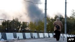 Донецк. Вблизи аэропорта. 2 октября 2014 года