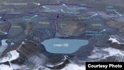 Ситуация с водными ресурсами вокруг месторождения Кумтор. Подготовлено профессором Исакбеком Торгоевым.