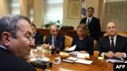 عکسی از جلسه کابینه دولت اسراییل.(عکس: Afp)