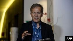 Пресс-секретарь ОБСЕ Михаил Боцюркив. Донецк, 19 июля 2014 года.