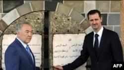 Bashar al-Assad və Nursultan Nazarbaev