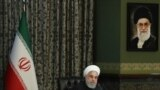 Iranian President Hassan Rouhani sitting alone in his cabinet meeting which was held in a different room on Wednesday, March 03, 2020, after reports of infection of some cabinet member with Coronavirus.