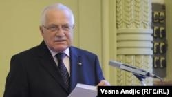 Presidenti i Çekisë, Vaclav Klaus.