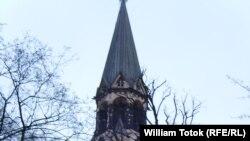 Emblema vizitei papale: Catedrala Sf. Ioan din Berlin