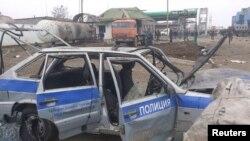 Бомбашки напад на полициско возило во Дагестан