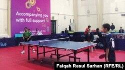 جانب من منافسات بطولة كأس العرب بكرة الطاولة في الأردن