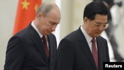 Preşedinţii Hu Jintao şi Vladimir Putin
