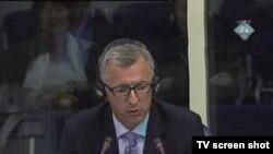 Svjedok Reynaud Theunens u haškoj sudnici, 12. listopada 2010