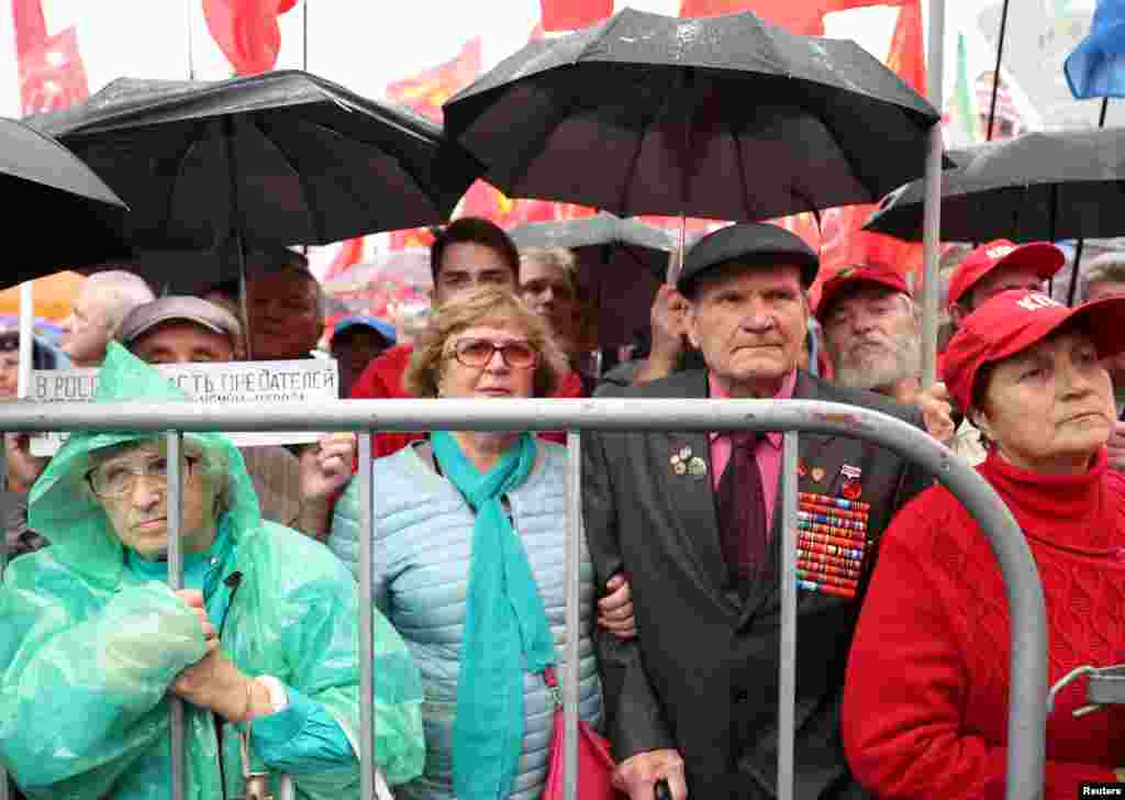 Митинг сторонников КПРФ на проспекте Сахарова