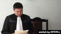 Базар-Коргон райондук сотунун судьясы Нургазы Алимкулов.