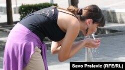 FOTOGALERIJA: Vrućina u Podgorici