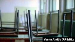 Prazne učionice u školama u Srbiji