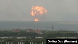 Huge Explosions Rock Russian Ammo Dump