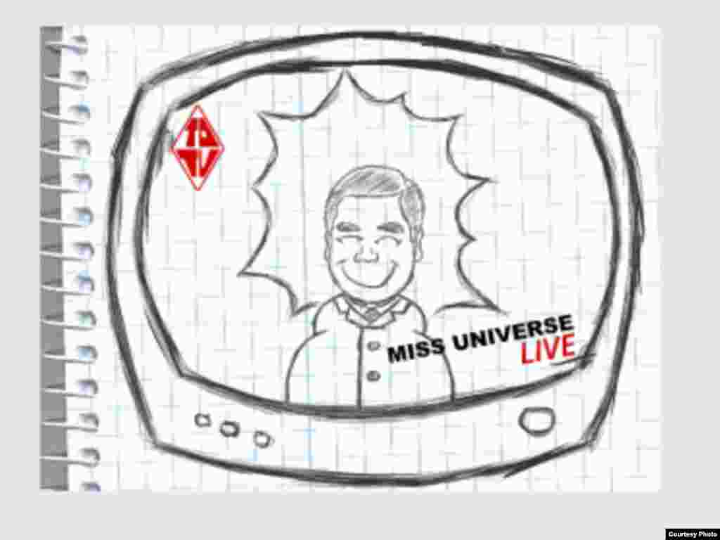 An animation from Turkmenistan marking World Press Freedom Day shows President Gurbanguly Berdymukhammedov demanding to be the only smiling face on television. See the animation here.