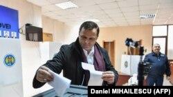 Andrei Năstase la secția de votare. 24 februarie 2019