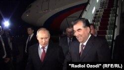 5 октябр куни 60 ёшни қаршилаган Имомали Раҳмон Путинни қучоқ очиб кутиб олди