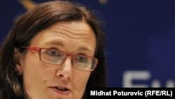 Cecilia Malmstroem, the EU's commissioner for internal affairs