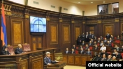 Armenia - Opening ceremony of the session hall of the National Assembly of Armenia after reconstruction, Yerevan, 22Oct2010