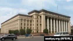 Қазақ ССР Жоғарғы кеңесі егемендік туралы декларация қабылдаған Алматыдағы бұрынғы парламент ғимараты.