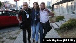 Журналисты в Минске. 10 августа 2020 года.