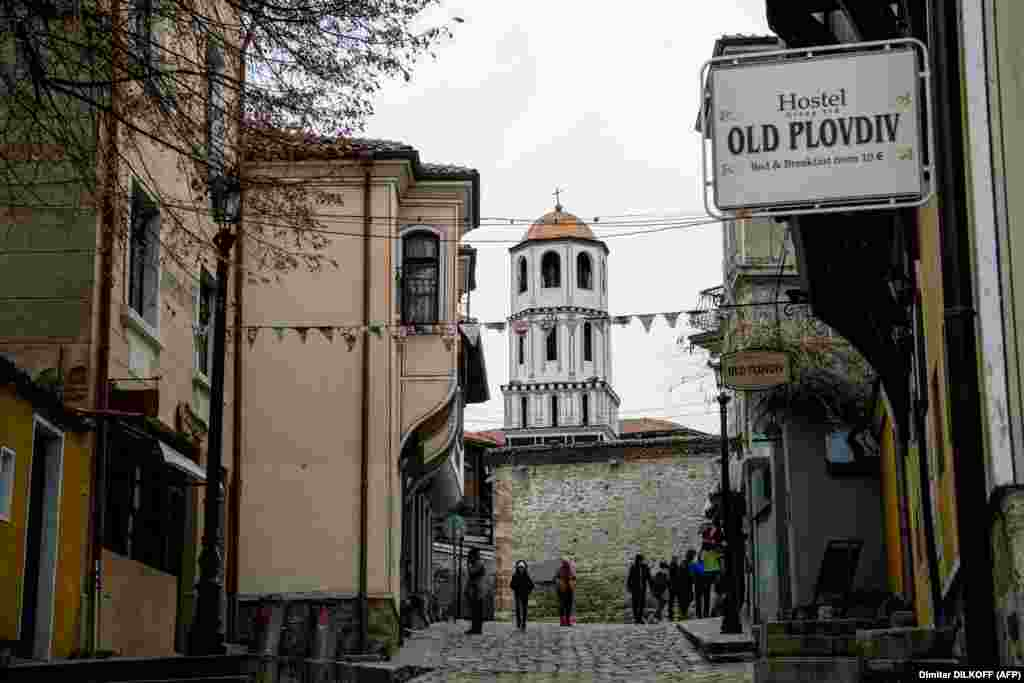 A neighborhood in Plovdiv's old town