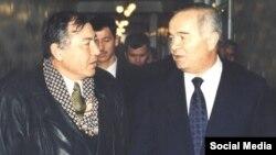 Тележурналист Муҳаммаджон Обидов президент Ислом Каримов билан.