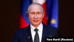В.В. Путин на пресс-конференции в Риме, 4 июля 2019 г.