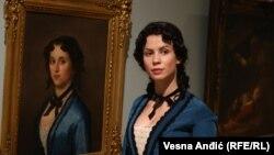 """""""Devojka u plavom"""" - delo Đure Jakšića, jedan od eksponata u Narodnom muzeju"""