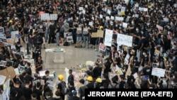 Protesta në Hong Kong.