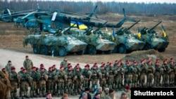 Українські військові на полігоні в Житомирській області, 21 листопада 2018 року