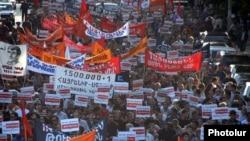 Yerevanda Türkiyə-Ermənistan razılaşmasına qarşı etiraz aksiyası