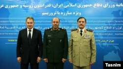 وزرای دفاع ایران، روسیه و سوریه در تهران