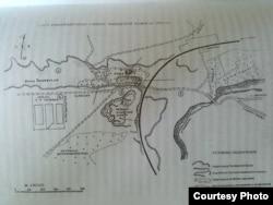 """План Змиевской балки в 1943 году. Из книги """"Змиевская балка: вопреки"""""""