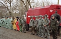 An army of health workers at the ready during an outbreak in Ukraine (ITAR-TASS)