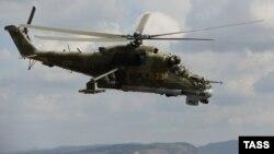 Один из вертолетов российского производства, участвующий в боевых действиях в Сирии (архивный снимок)