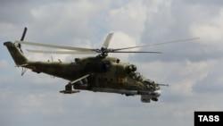Российский военный вертолет Mи-24. Сирия, 6 октября 2015 года. Иллюстративное фото.
