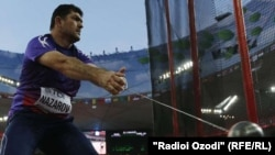 Hammer thrower Dilshod Nazarov won a first ever gold medal for Tajikistan at the Rio Olympics.