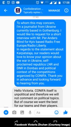 Спілкування із CONIFA