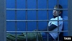 Олексій Гончаренко в райвідділку «Китай-город» у Москві, 1 березня 2015 року