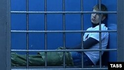 Аляксей Ганчарэнка ў паліцэйскім пастарунку ў Маскве