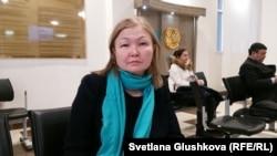 Қазақстан қорғаныс министрлігінің зейнеткері Гүлнәр Қасымова. Астана, 31 қаңтар 2017 жыл.