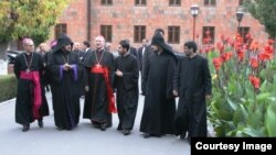 Armenia -- Cardinal Janfranko Ravazi in Echmiadzin. 27Oct., 2014