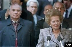 Михаил Горбачев и Маргарет Тэтчер. Лондон, апрель 1989 года